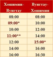Расписание ракеты