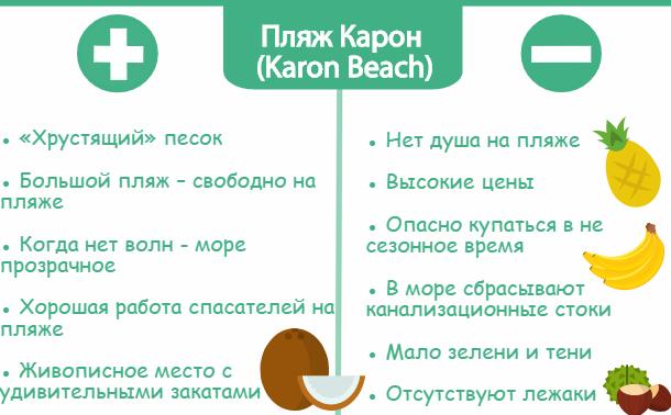 Плюсы и минусы пляжа Корона