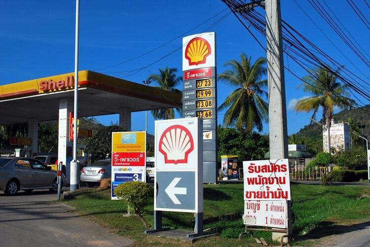 Цены на бензин на Пхукете