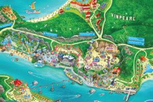 Карта Vinpearl Land Нячанг