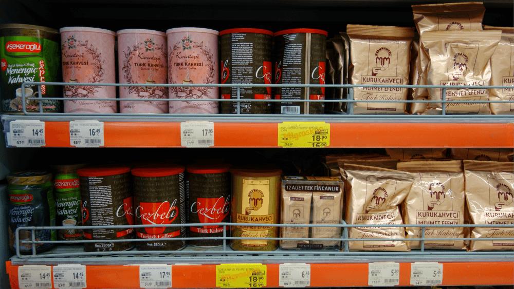 Цены на турецкий кофе