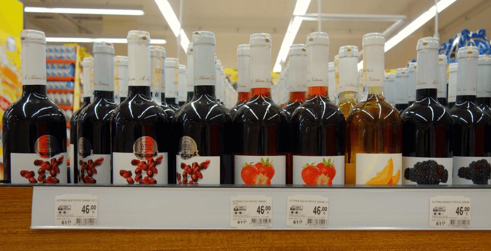 Цены на вино в Турции