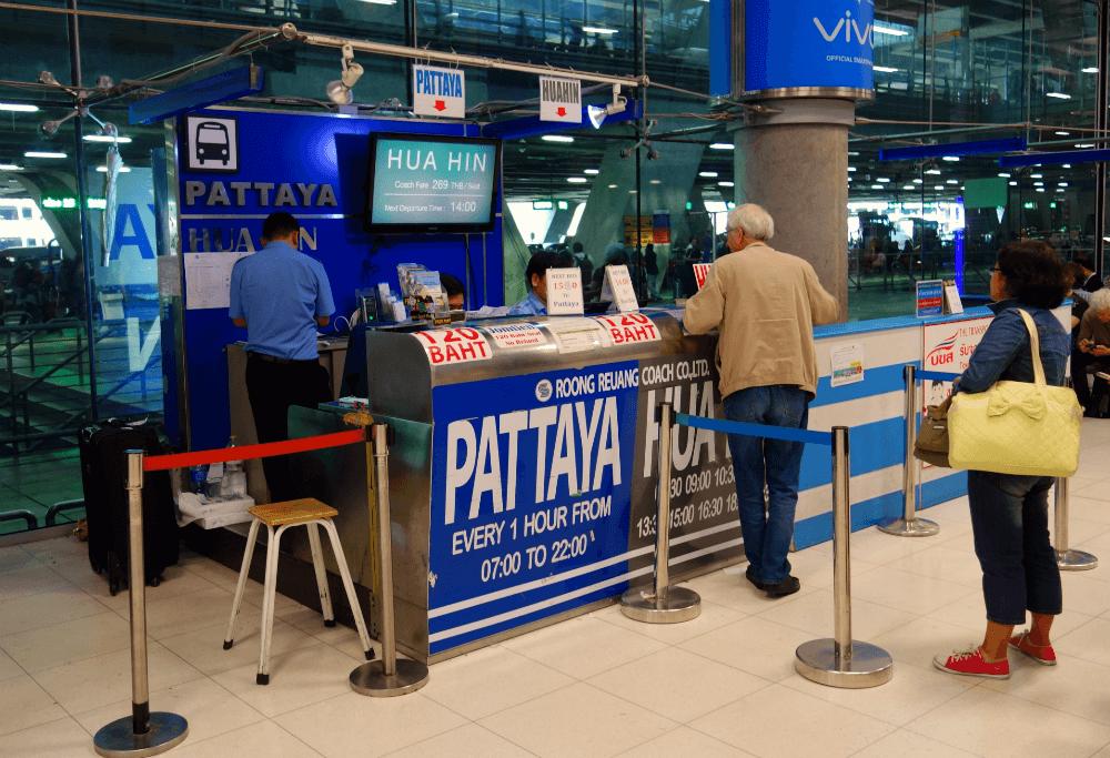 Стойка транспортных компаний в аэропорту Суварнабхуми