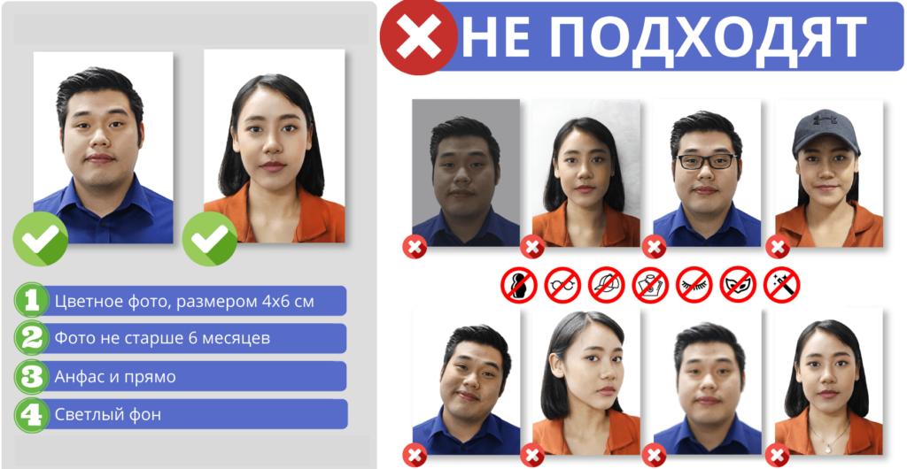 Требование к фото для тайской визы
