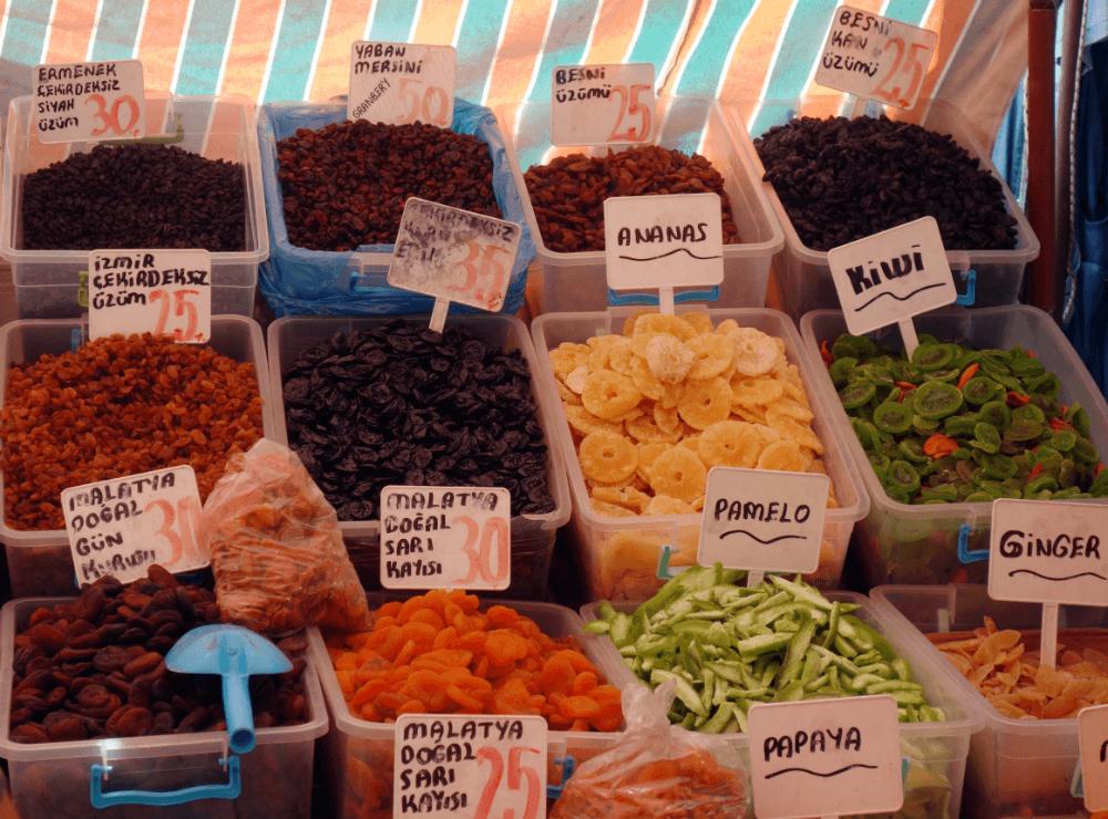 Цены на орехи и сухофрукты Турция
