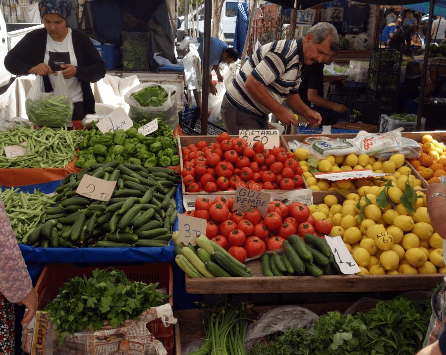 Фрукты и овощи в Турции