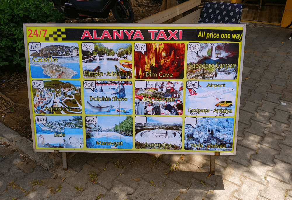 Такси в Аланьи, Турция