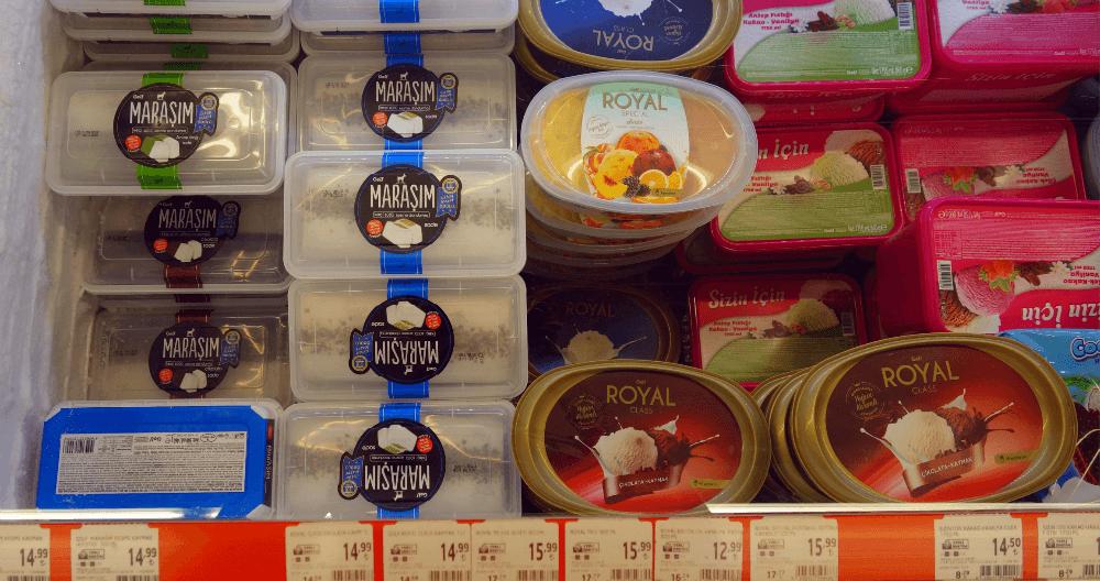 Цены на мороженое в Турции