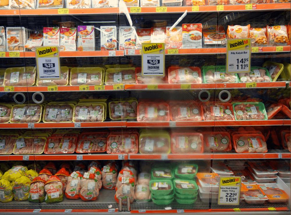 Стоимость мясных продуктов в Турции