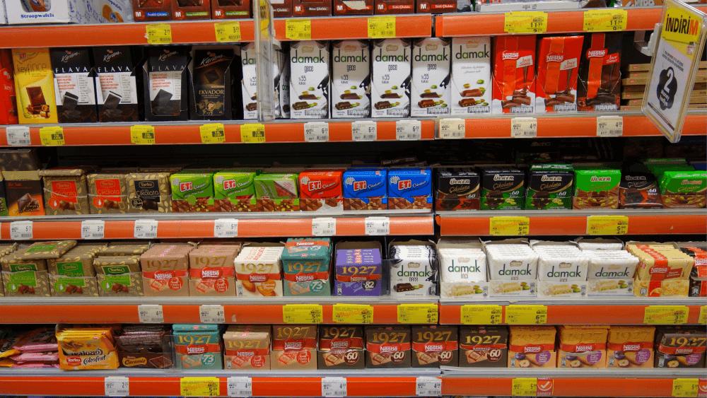 Стоимость шоколада в Турции