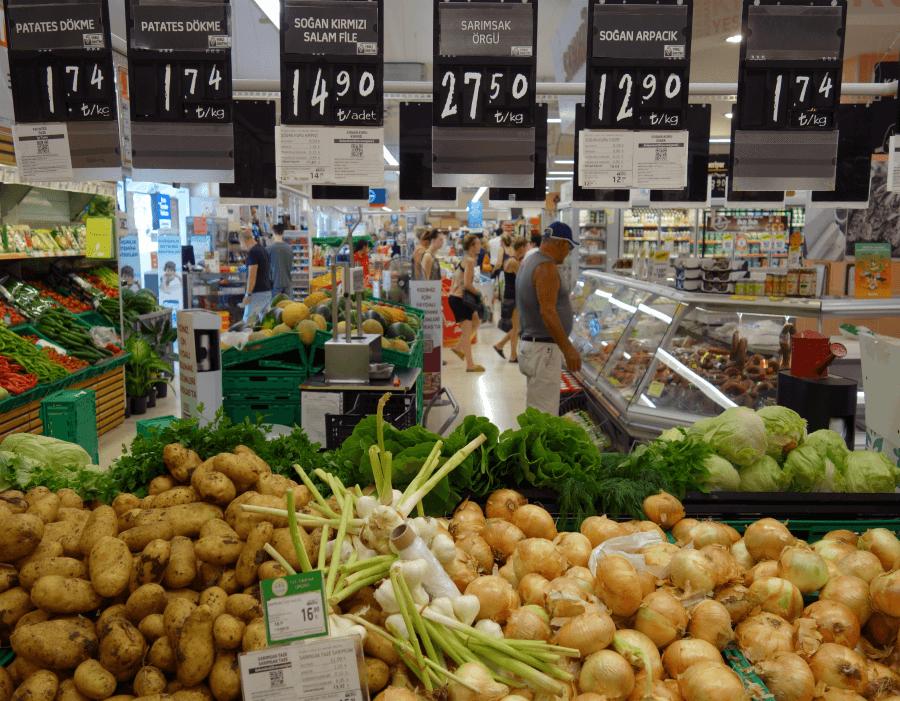Овощи в Турции