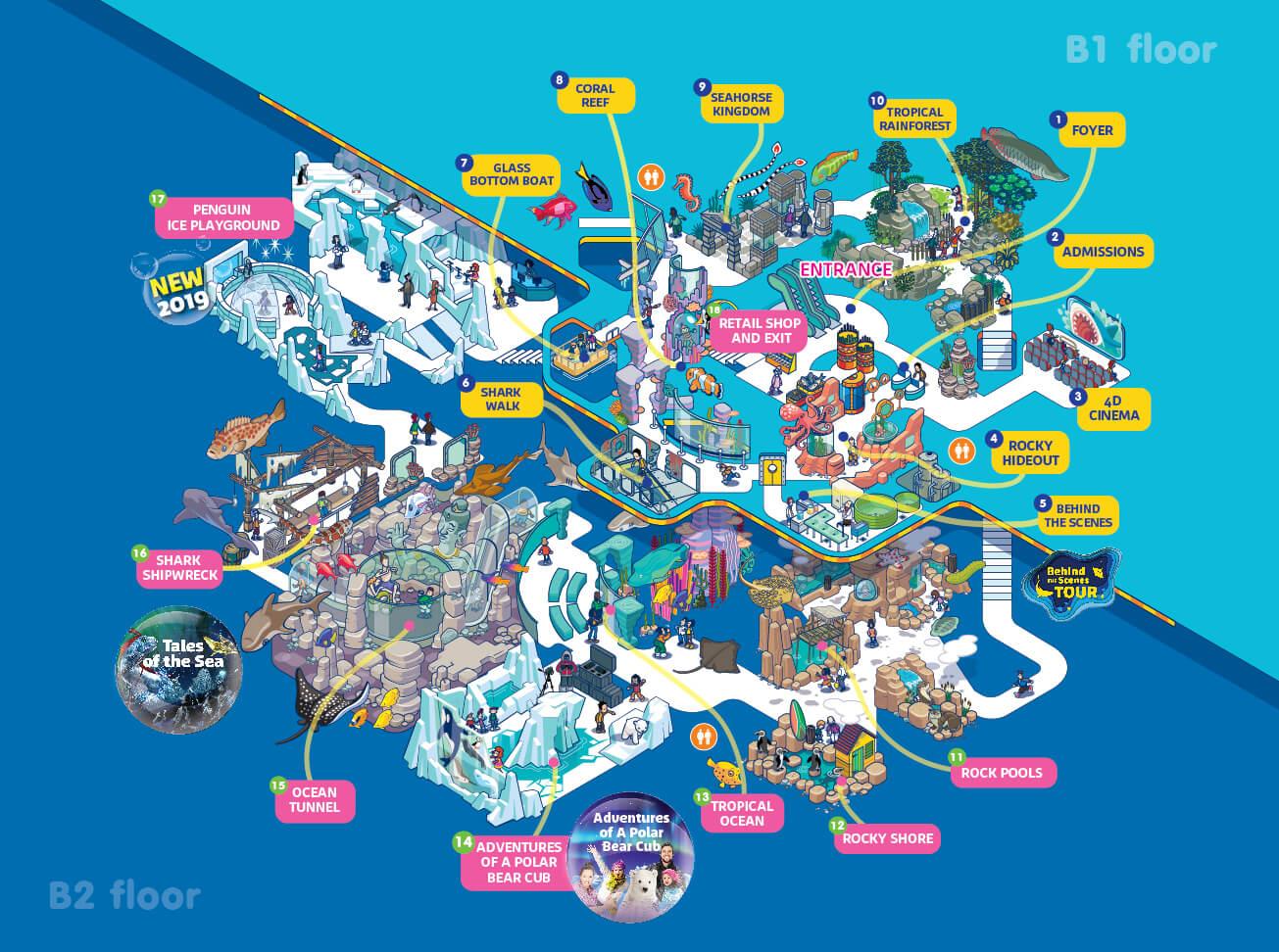 план океанариума Siam Ocean World